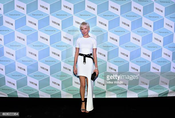 Actress Michelle Williams attends the Vanity Fair and Tiffany Co private dinner toasting Lupita Nyong'o and celebrating Legendary Style at ShangriLa...
