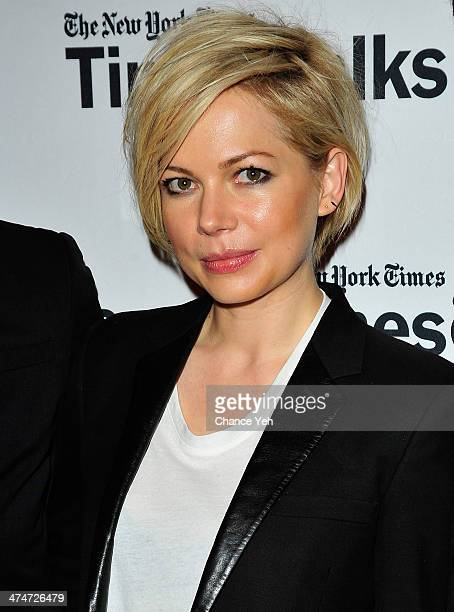 Actress Michelle Williams attends TimesTalk Presents An Evening With 'Cabaret' at The Times Center on February 24 2014 in New York City