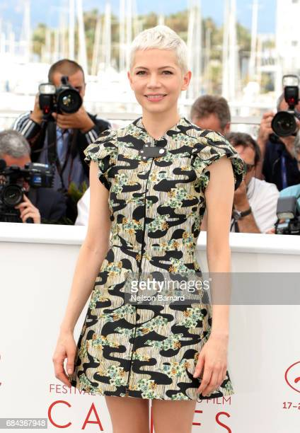 Actress Michelle Williams attends Wonderstruck Photocall during the 70th annual Cannes Film Festival at Palais des Festivals on May 18 2017 in Cannes...