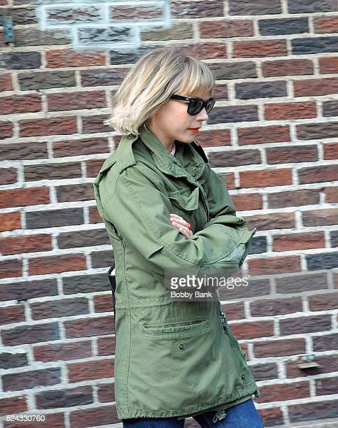 Actress Michelle Williams exits 'The Late Show With Stephen Colbert' on April 25 2016 in New York City