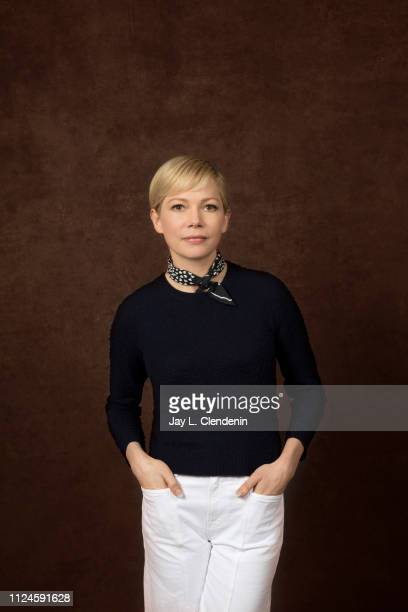 Actress Michelle Williams, from 'After the Wedding' is photographed for Los Angeles Times on January 25, 2019 at the 2019 Sundance Film Festival, in...