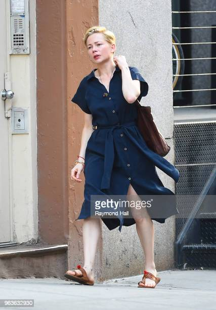 Actress Michelle Williams is seen on the set of After The Wedding on May 29, 2018 in New York City.