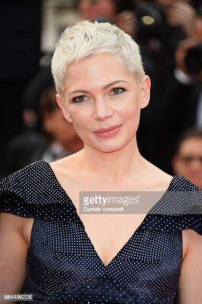 Actress Michelle Williams leaves the 'Wonderstruck' screening during the 70th annual Cannes Film Festival at Palais des Festivals on May 18 2017 in...