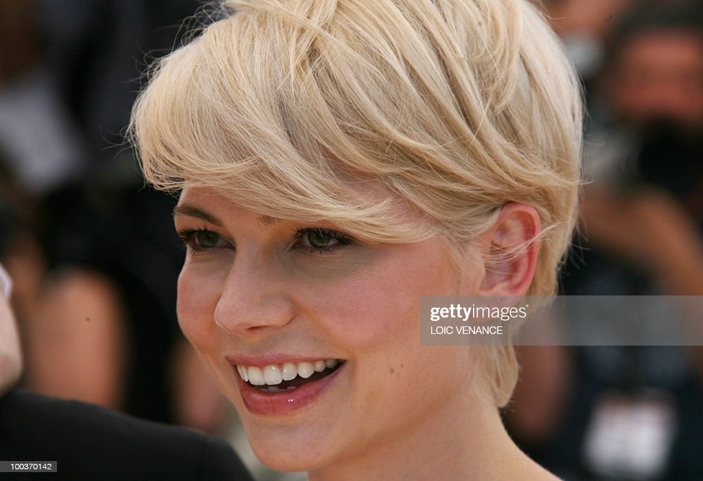 US actress Michelle Williams poses durin