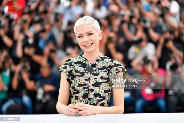 US actress Michelle Williams poses on May 18 2017 during photocall for the film 'Wonderstruck' at the 70th edition of the Cannes Film Festival in...