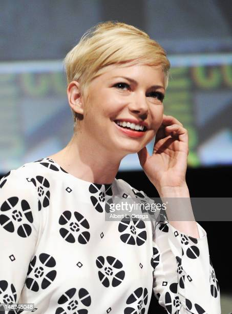 Actress Michelle Williams speaks at Walt Disney Studios 'FrankenWeenie' 'Oz The Great And Powerful' and 'Wreck It Ralph' Panels during ComicCon...