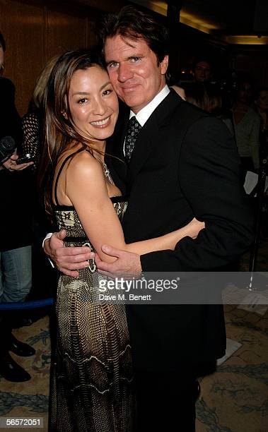 Actress Michelle Yeoh and director Rob Marshall arrive at a reception prior to the UK premiere of 'Memoirs Of A Geisha' at the Washington Hotel...