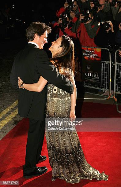 Actress Michelle Yeoh and director Rob Marshall arrive at the UK Premiere of Memoirs Of A Geisha at the Curzon Mayfair on January 11 2006 in London...