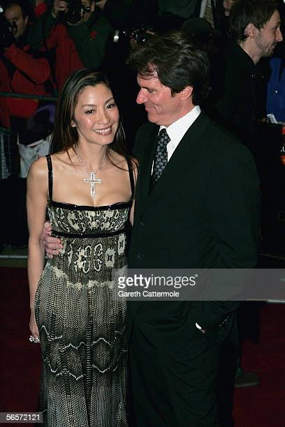 Actress Michelle Yeoh and director Rob Marshall arrives at the UK Premiere of 'Memoirs Of A Geisha' at the Curzon Mayfair on January 11 2006 in...