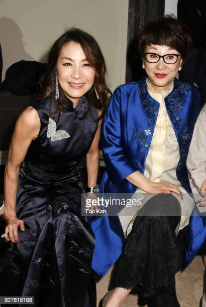 Actress Michelle Yeoh and guests attend the Shiatzy Chen show as part of the Paris Fashion Week Womenswear Fall/Winter 2018/2019 on March 52018 in...