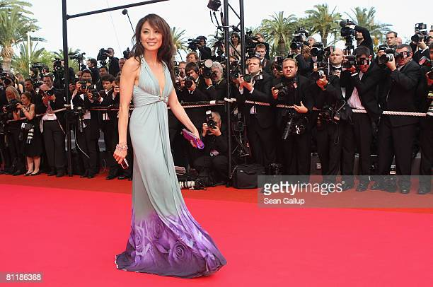 Actress Michelle Yeoh arrives at the 'Che' Premiere at the Palais des Festivals during the 61st International Cannes Film Festival on May 21, 2008 in...