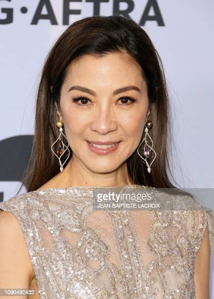 Actress Michelle Yeoh arrives for the 25th Annual Screen Actors Guild Awards at the Shrine Auditorium in Los Angeles on January 27 2019
