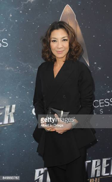 Actress Michelle Yeoh arrives for the Premiere Of CBS's 'Star Trek Discovery' held at The Cinerama Dome on September 19 2017 in Los Angeles California