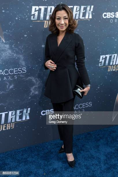 Actress Michelle Yeoh arrives for the Premiere Of CBS's 'Star Trek Discovery' at The Cinerama Dome on September 19 2017 in Los Angeles California