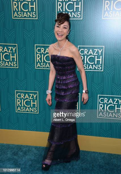 Actress Michelle Yeoh arrives for Warner Bros Pictures' Crazy Rich Asians Premiere held at TCL Chinese Theatre IMAX on August 7 2018 in Hollywood...