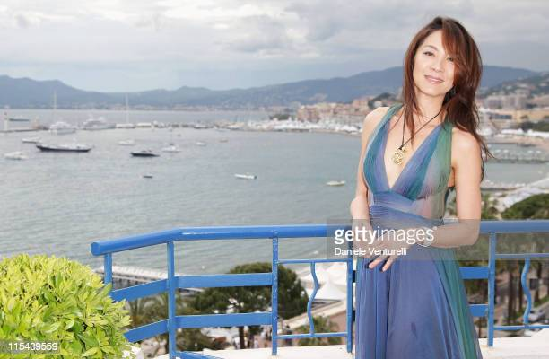 Actress Michelle Yeoh attends a photocall at the Majestic Hotel during the 61st International Cannes Film Festival on May 21 2008 in Cannes France