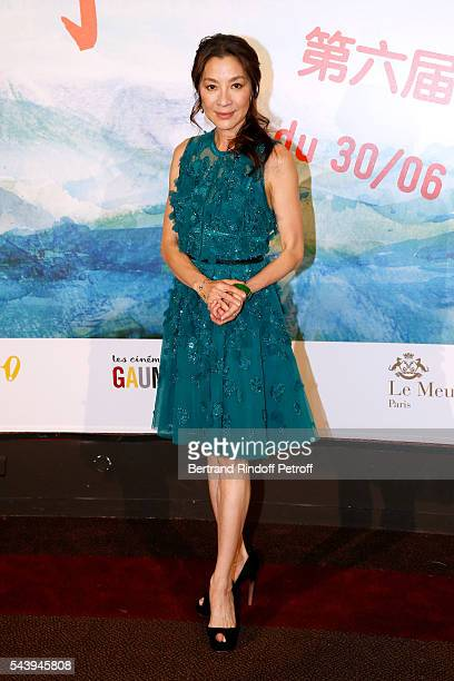 Actress Michelle Yeoh attends the 6th Chinese Film Festival Photocall at Cinema Gaumont Marignan on June 30 2016 in Paris France