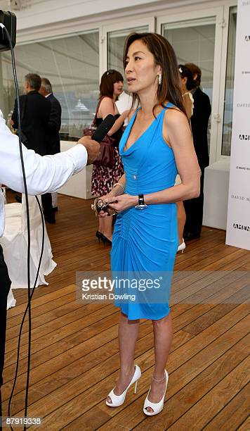 Actress Michelle Yeoh attends the Amend Charity Luncheon at the Hotel Du Cap during the 62nd International Cannes Film Festival on May 22 2009 in...