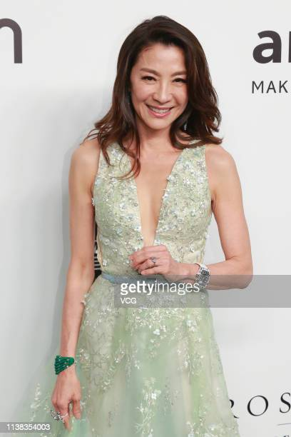 Actress Michelle Yeoh attends the amfAR Gala Hong Kong 2019 at the Rosewood Hong Kong on March 25 2019 in Hong Kong China