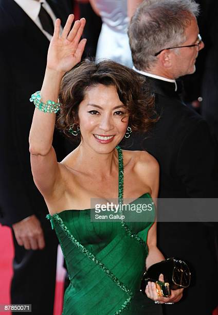Actress Michelle Yeoh attends the Broken Embraces Premiere held at the Palais Des Festivals during the 62nd International Cannes Film Festival on May...