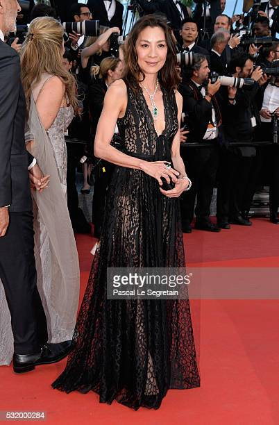 Actress Michelle Yeoh attends the Julieta premiere during the 69th annual Cannes Film Festival at the Palais des Festivals on May 17 2016 in Cannes...