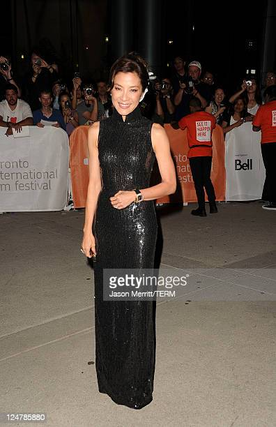 Actress Michelle Yeoh attends The Lady Premiere at Roy Thomson Hall during the 2011 Toronto International Film Festival on September 12 2011 in...