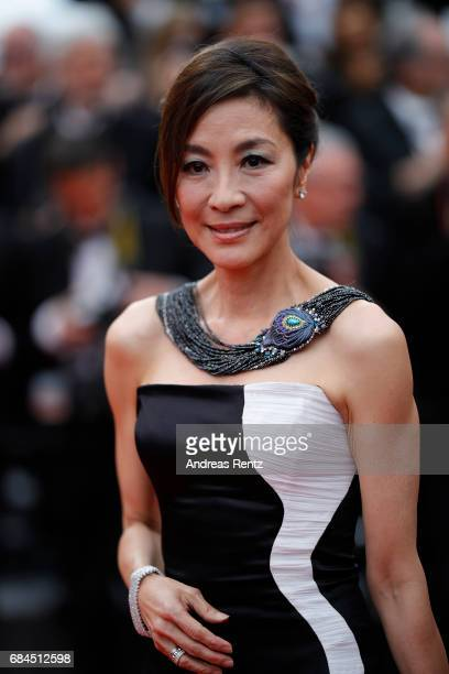 Actress Michelle Yeoh attends the Loveless screening during the 70th annual Cannes Film Festival at Palais des Festivals on May 18 2017 in Cannes...