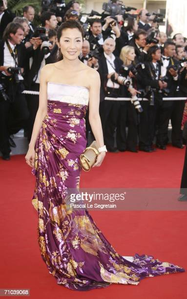Actress Michelle Yeoh attends the 'Marie Antoinette' premiere at the Palais des Festivals during the 59th International Cannes Film Festival May 24...