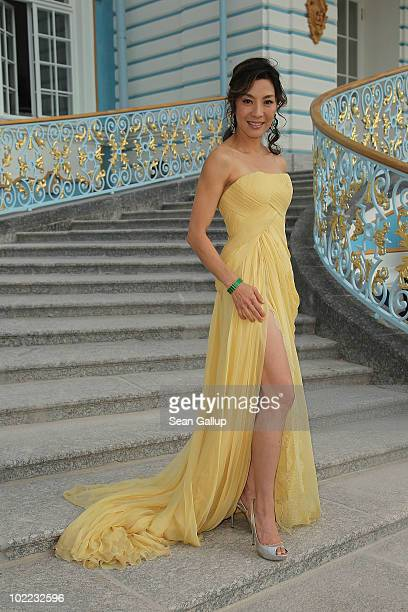 Actress Michelle Yeoh attends the Mariinsky Ball of Montblanc White Nights Festival at Catherine Palace on June 19 2010 in Pushkin near Saint...