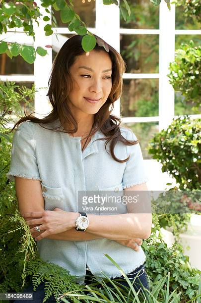 Actress Michelle Yeoh attends 'The Mummy Tomb of the Dragon' press conference at the Four Seasons Hotel on July 15 2008 in Beverly Hills California