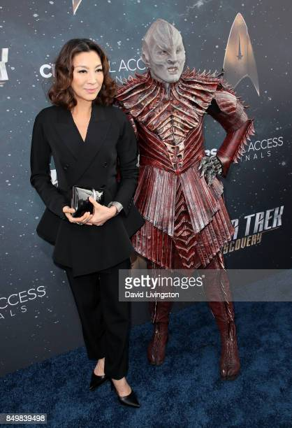Actress Michelle Yeoh attends the premiere of CBS's 'Star Trek Discovery' at The Cinerama Dome on September 19 2017 in Los Angeles California