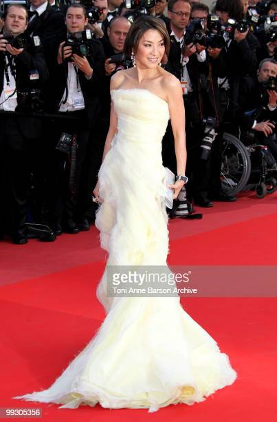 Actress Michelle Yeoh attends the Premiere of 'Wall Street: Money Never Sleeps' held at the Palais des Festivals during the 63rd Annual International...