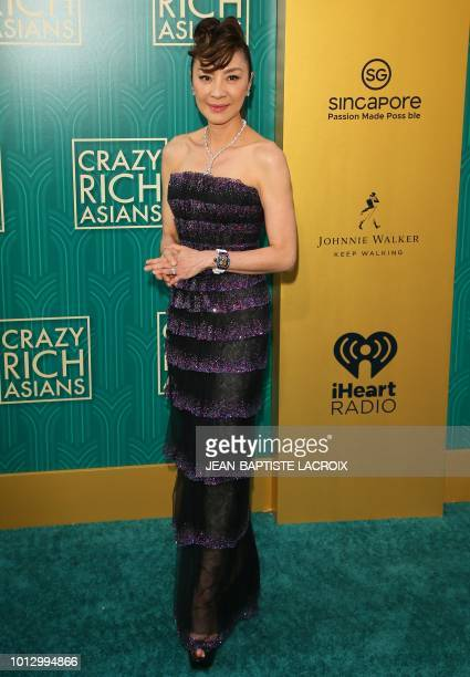 Actress Michelle Yeoh attends the premiere of Warner Bros Pictures' 'Crazy Rich Asians' in Hollywood California on August 7 2018