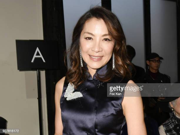 Actress Michelle Yeoh attends the Shiatzy Chen show as part of the Paris Fashion Week Womenswear Fall/Winter 2018/2019 on March 52018 in Paris France