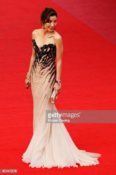 Actress Michelle Yeoh attends the Vengeance Premiere at the Palais Des Festivals during the 62nd International Cannes Film Festival on May 17 2009 in...