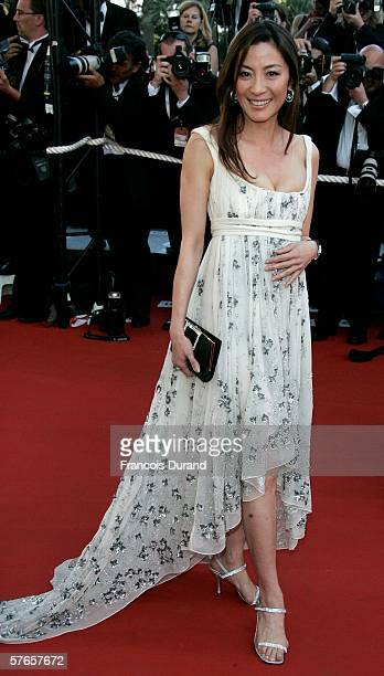 Actress Michelle Yeoh attends the 'Volver' premiere at the Palais des Festivals during the 59th International Cannes Film Festival May 19 2006 in...