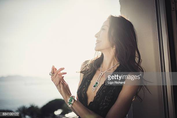 Actress Michelle Yeoh is photographed for Gala on May 15 2016 in Cannes France