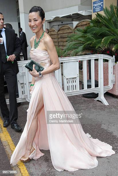 Actress Michelle Yeoh is seen attending the 63rd Cannes Film Festival on May 15 2010 in Cannes France
