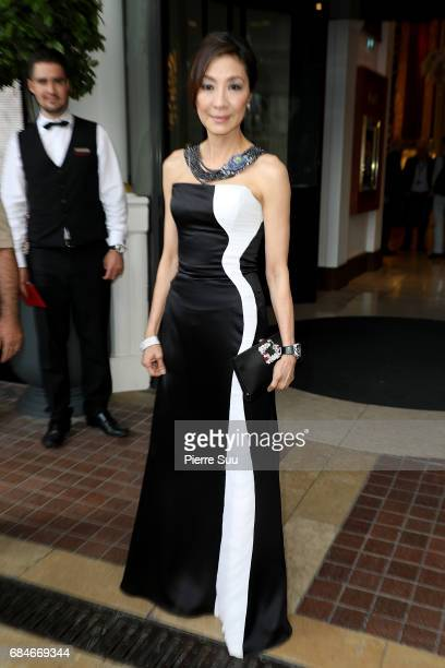 Actress Michelle Yeoh spotted arriving at the 'Majestic' hotel during the 70th annual Cannes Film Festival at on May 18 2017 in Cannes France