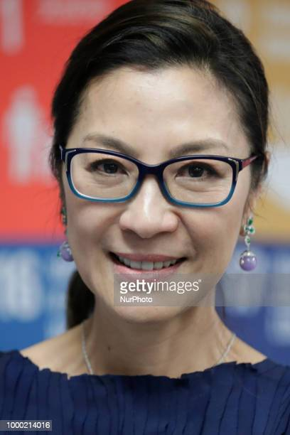 Actress Michelle Yeoh UN Development Programme Goodwill Ambassador Advocating for the SDGs today at the UN Headquarters in New York on July 16 2018