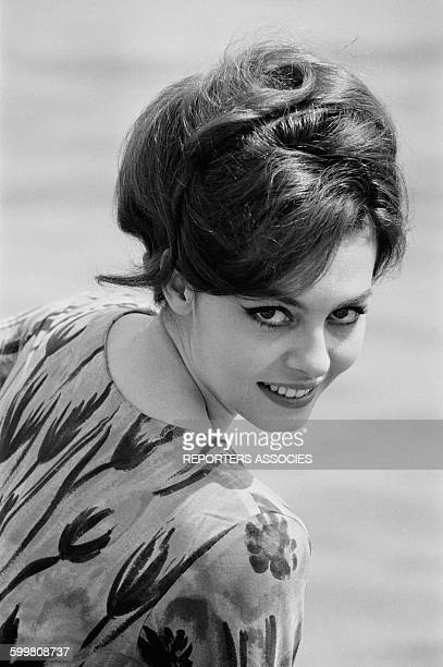 Actress Michèle Mercier At the Cannes Film Festival, in Cannes, France, on April 28, 1964 .