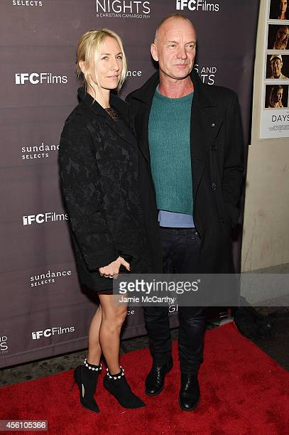 Actress Mickey Sumner and musician Sting attend the premiere of Days And Nights at the IFC Center on September 25 2014 in New York City