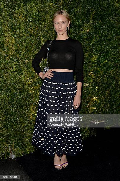 Actress Mickey Sumner attends the Chanel Tribeca Film Festival Artist Dinner during the 2014 Tribeca Film Festival at Balthazar on April 22 2014 in...