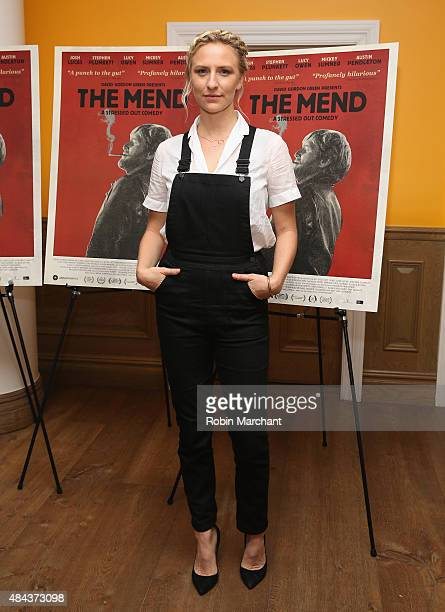 Actress Mickey Sumner attends The Mend New York Premiere at Crosby Street Hotel on August 17 2015 in New York City