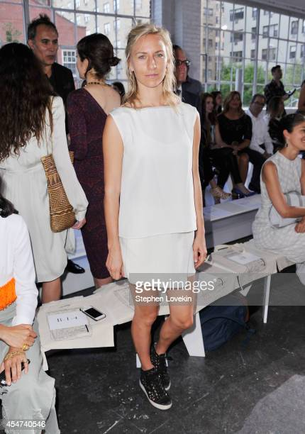 Actress Mickey Sumner attends the Nonoo fashion show during MercedesBenz Fahion Week Spring 2015 at 775 Washington Street on September 5 2014 in New...
