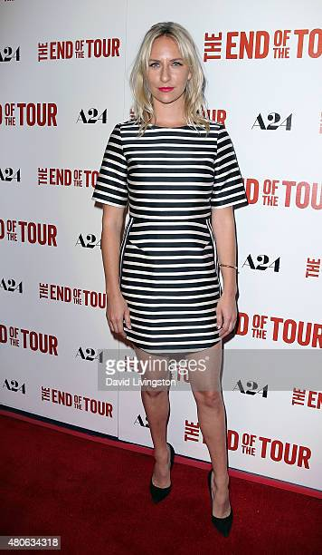 Actress Mickey Sumner attends the premiere of A24's The End of the Tour at the Writers Guild Theater on July 13 2015 in Beverly Hills California