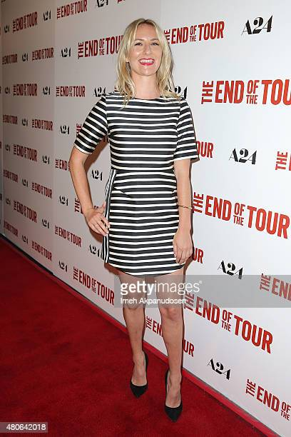 Actress Mickey Sumner attends the premiere of A24's 'The End Of The Tour' at Writers Guild Theater on July 13 2015 in Beverly Hills California