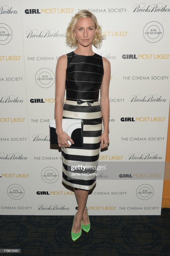 Actress Mickey Sumner attends the screening of Lionsgate and Roadside Attractions' 'Girl Most Likely' hosted by The Cinema Society & Brooks Brothers at Landmark's Sunshine Cinema on July 15, 2013 in New York City.
