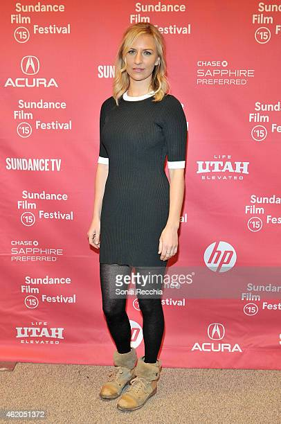 Actress Mickey Sumner attends the The End Of The Tour Premiere during the 2015 Sundance Film Festival at the Eccles Center Theatre on January 23 2015...