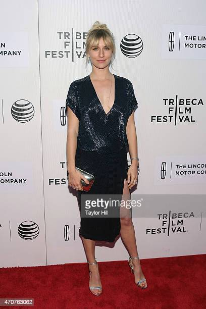 """Actress Mickey Sumner attends the world premiere of """"Anesthesia"""" during the 2015 Tribeca Film Festival at BMCC Tribeca PAC on April 22, 2015 in New..."""